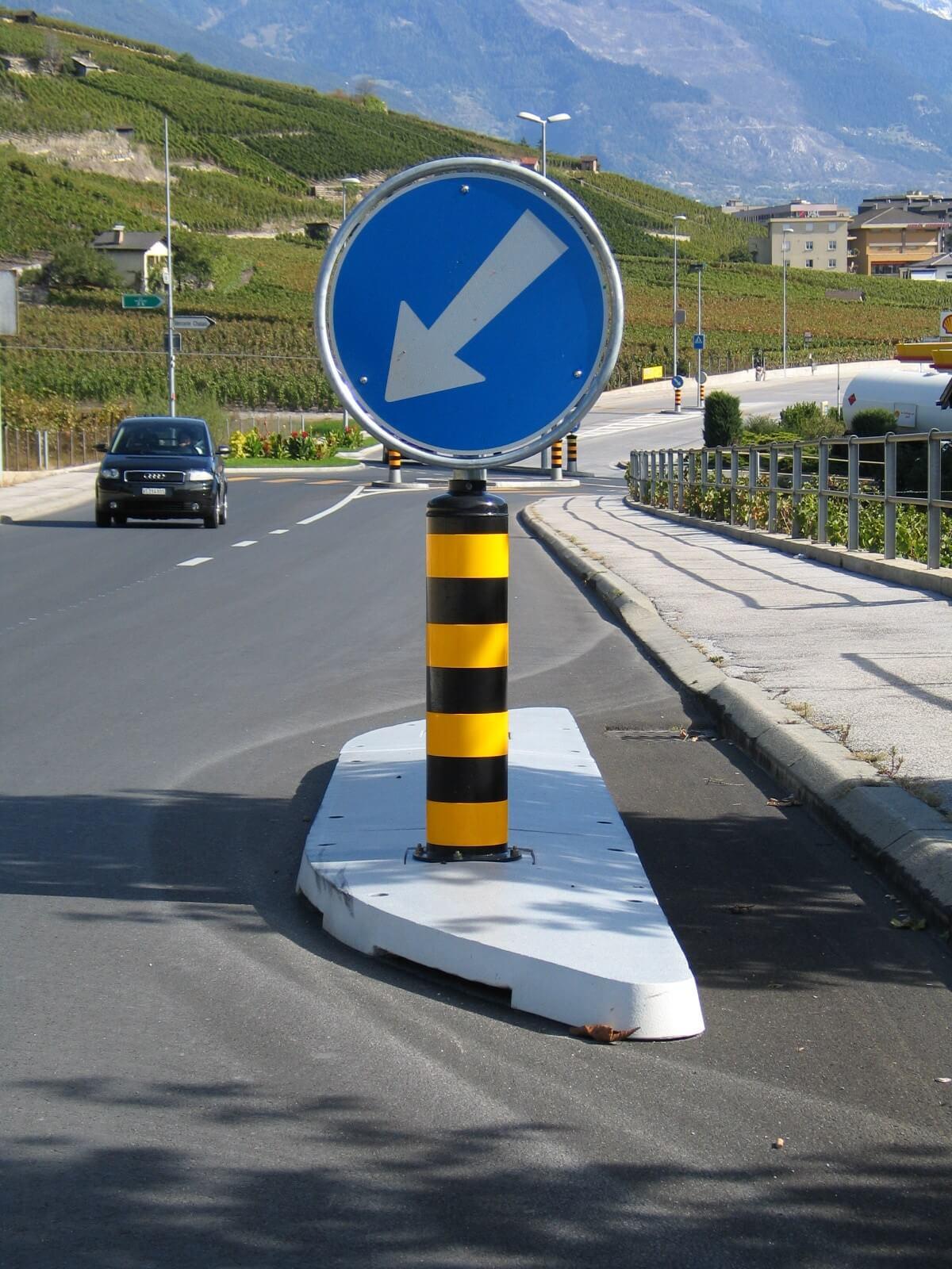 Verkehrsberuhigung durch Reduzierung der Fahrgeschwindigkeit