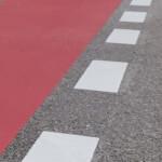 1900x500 Roteinfärbung Radstreifen Kreuzungsbereich Benken
