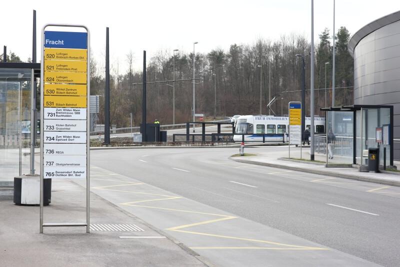 signalisation an einer haltestelle der VBG