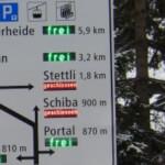 Verkehrslenkung am Portal Churwalden