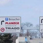 Verkehrsführung auf dem Areal