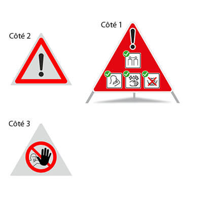 Signaux pliables COVID-19