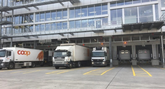 Coop Logistikzentrum Verkehrsleitsystem