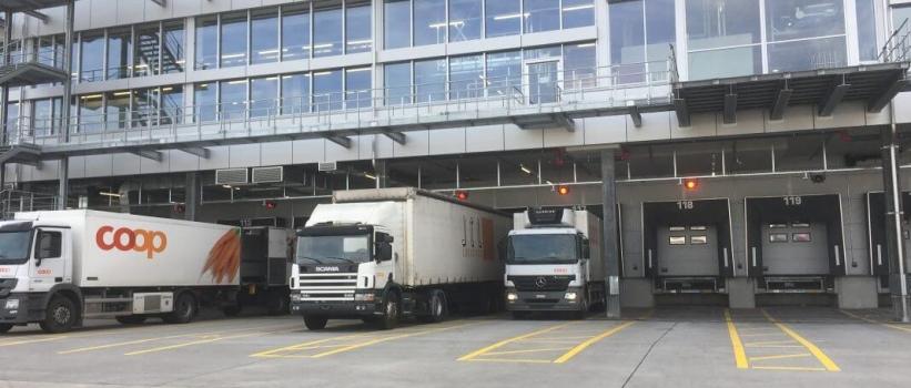 Komplexes Verkehrsleitsystem für das neue Coop Verteilzentrum