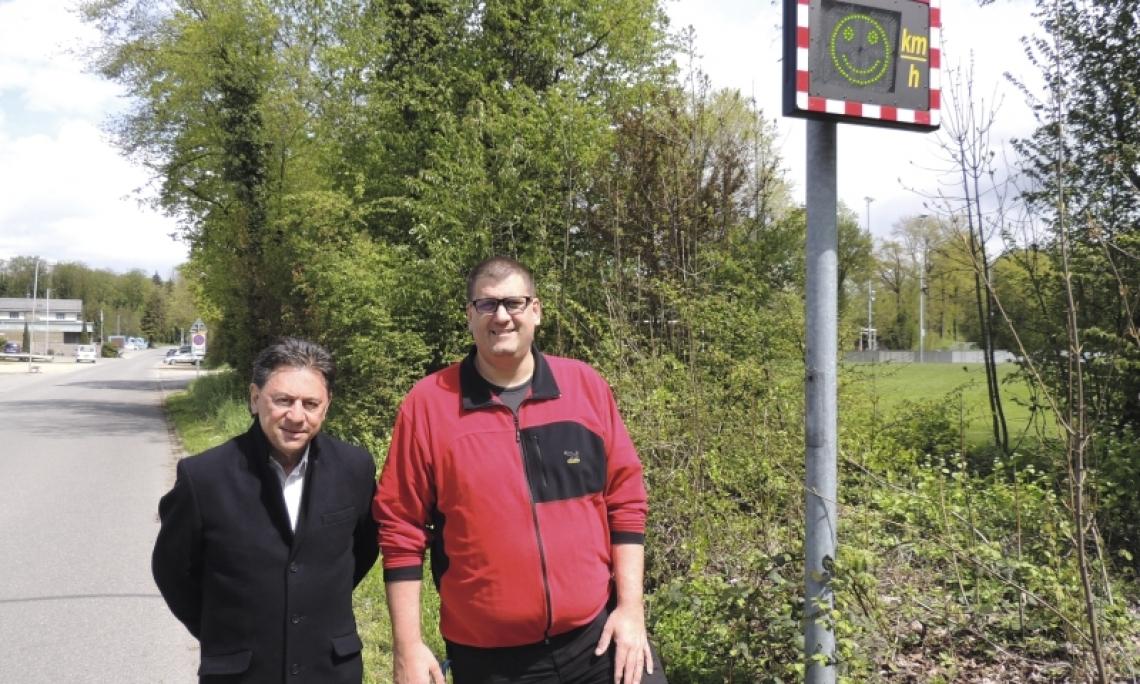 2 Jahre elektronische Geschwindigkeitsanzeige in Aarberg (BE)