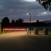 Schranke mit LED-Baumbeleuchtung bis 8.000mm Baumlänge