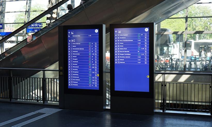 Neue Abfahrtsanzeigen am Bahnhof Luzern