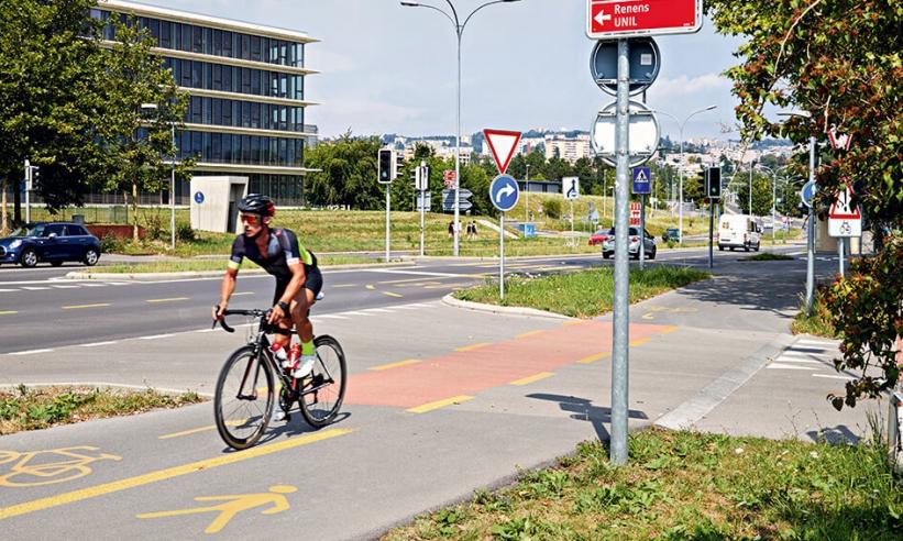 850 panneaux pour cyclistes pour l'agglomération Lausanne-Morges