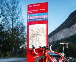 Sportliche Velorouten im Wallis