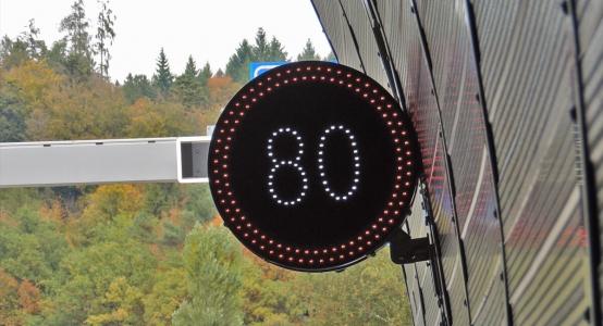 A5 Ostast LED Geschwindigkeitssignal